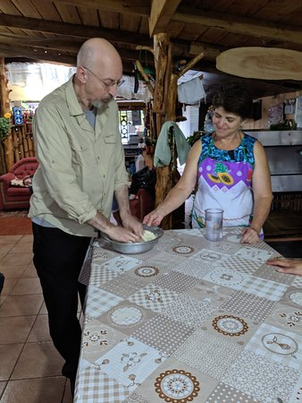 Making tortillas in local village home