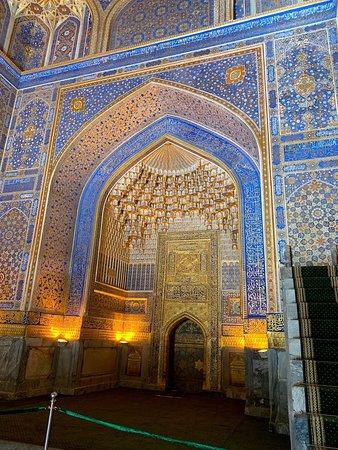Samarkand, Uzbekistan: メドレセ内部の装飾