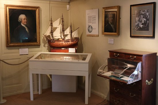 Captain Cook Memorial Museum Whitby: The Endeavour in the Navigation room