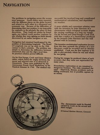 Captain Cook Memorial Museum Whitby: Navigation in James Cook's time