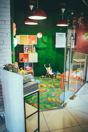 В нашем кафе есть классная детская игровая комната