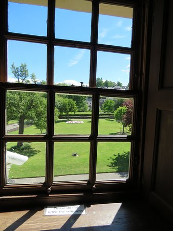 Looking out into the gardens