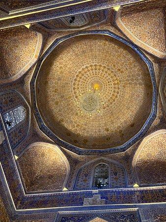 Samarkand, Uzbekistan: 金襴の天井