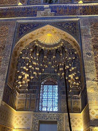 Samarkand, Uzbekistan: 金襴豪華の壁