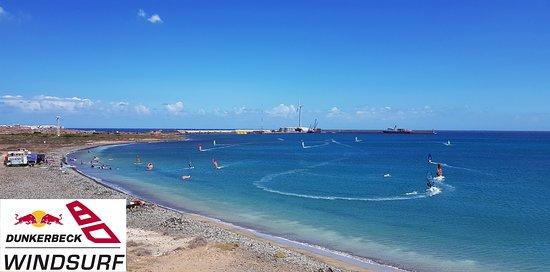 windsurfing paradise bahia de formas in Arinaga