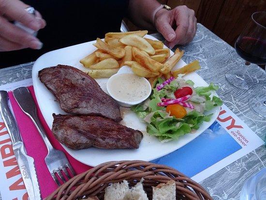 Angus steak - very generous portions