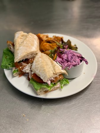 Fresh homemade sandwiches.