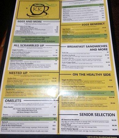 eggs & more menu