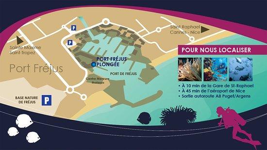Plan - Port Fréjus Plongée