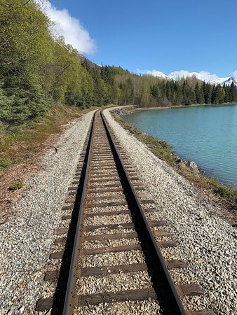 Alaska Railroad: View from the rear cart