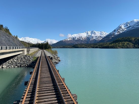 Alaska Railroad: Another view from the rear cart over the water. It was a gorgeous day!
