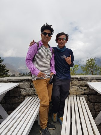 Ayush with Local Celebrity