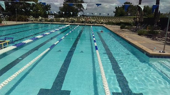 View of lap pool at Aliso Viejo Aquatic Center.