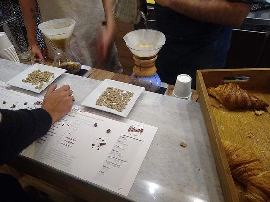 Edison Café: Degustación de café