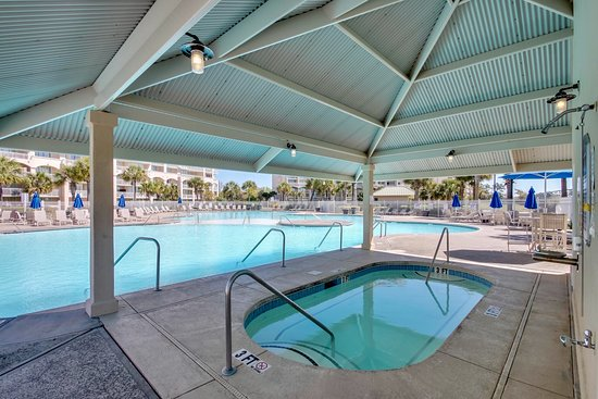 North Myrtle Beach, SC: Glance of the North Tower outdoor jacuzzi.