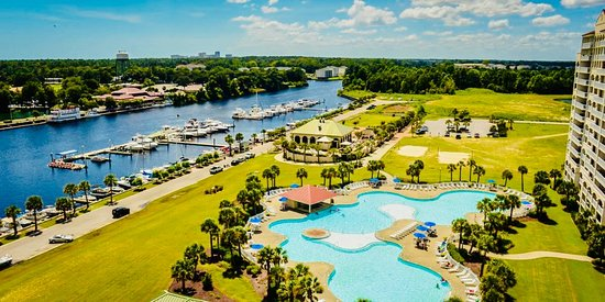 North Myrtle Beach, SC: North Tower pool and full service marina.