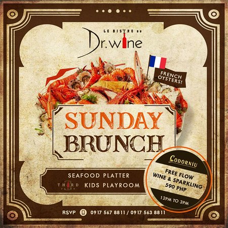 Join us EVERY Sunday for a special brunch menu of fresh flown seafood from France!