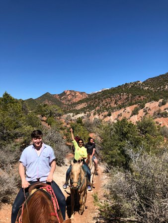 Riding up to Turtles Cave on a wonderful afternoon