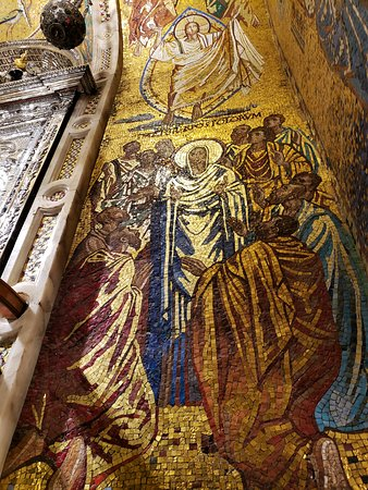 Montserrat Small Group or Private Tour Hotel pick-up: Ornate reliefs surround the Madonna