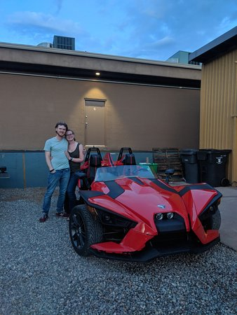 Half-Day Polaris Slingshot Rental in Sedona: Andrew wanted a photo!