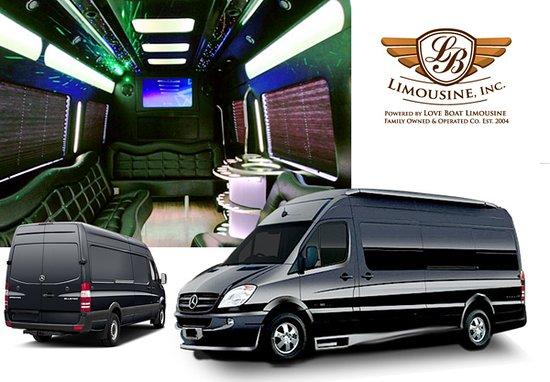 LB Limousine: Mercedes Benz Sprinter Limo (16 Capacity)