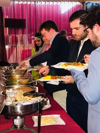 Food at the Bollywood function