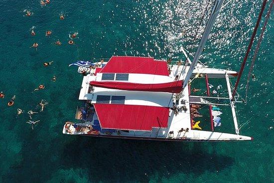 Excursão matinal vermelha - Santorini