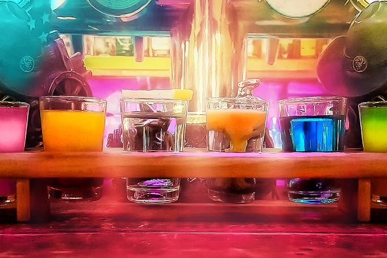 Wide variety of shots drinks