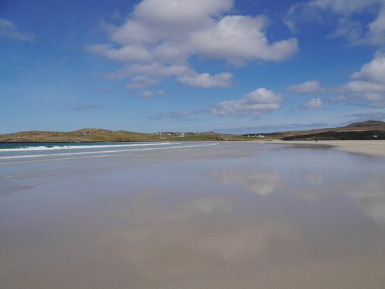 Uig Sands: Reflection on Ardroil Beach, Uig Bay