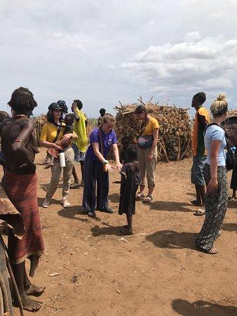Dassanech village omo valley Ethiopia