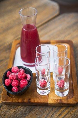 Belgrade, Serbia: Homemade raspberry liquor
