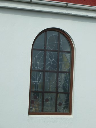 Vik, Island: Stained glass windows