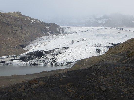 Vik, Island: Glacier edge