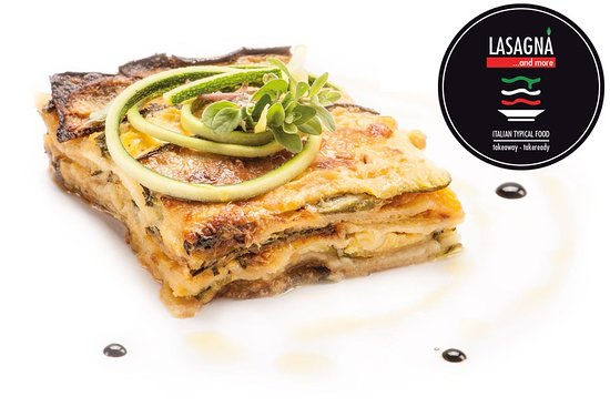 Lasagna and more: Zucchini parmigiana with mozzarella cheese and ham. Also served in grilled ciabatta bread.