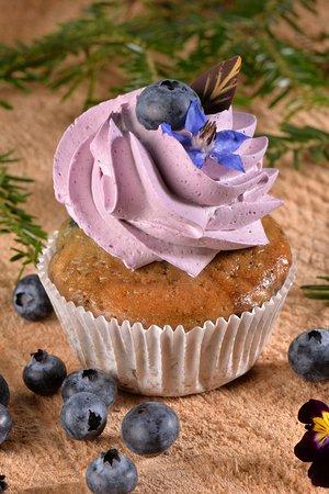Cupcake maison aux myrtilles