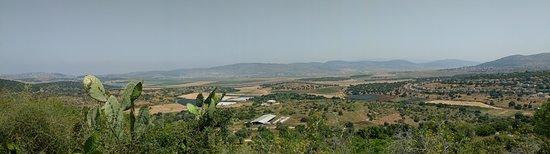 Zippori, Israel: Панорамный вид на Голаны