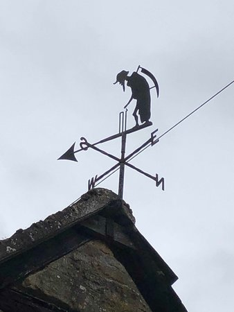 Tour of the Cotswolds from Moreton-in-Marsh: Weather vane...Father time