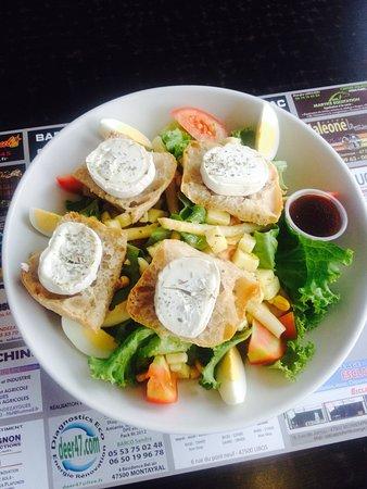 Saint-Vite, France: Salade de chèvre