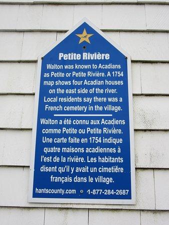 Walton Lighthouse Petite Rivière Sign