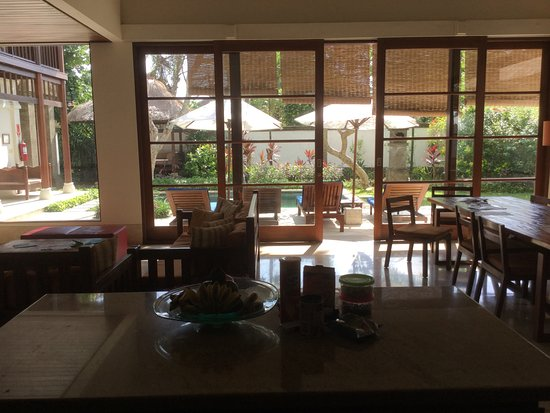 Karma Jimbaran: From the kitchen looking out to our pool