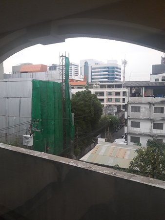 View from balcony side window to see elevated air port line