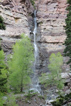 Lower Cascade Trail and Falls, Ouray, CO. May 2019