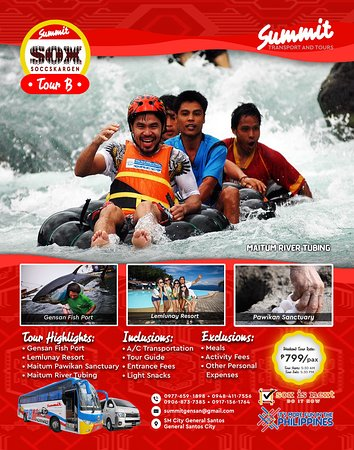 This day tour will unleash the adventure junkie in you. You will get to experience the 2.1km river rapids of Maitum Pangi River, one of the cleanest rivers in the Philippines. Also, you will be able to see the sashimi-grade tunas of General Santos City, be blown away with the beauty of Sarangani Bay at Lemlunay Resort and have a glimpse of the Pawikan Sanctuary at Maitum, Sarangani.