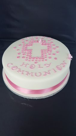 12 inch victoria sponge holy communion cake