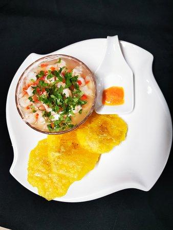 Un delicioso ceviche de camarón en el  corazón de Uvita