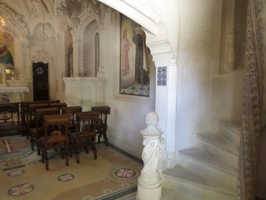 Marble staircase in the church