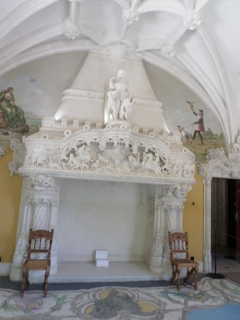 Magnificent marble fireplace