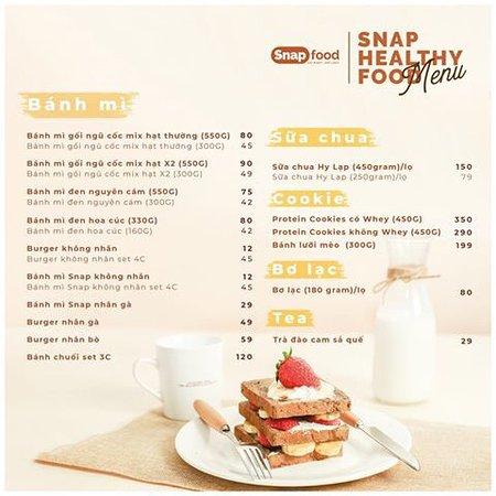 Snap Food Menu (Products)