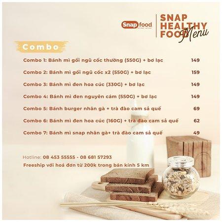 Snap Food Menu (Combo)