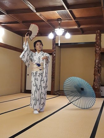 Traditional japanese dance lesson